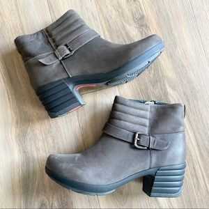 Sanita Leather Ankle Clog Boots Booties Winter 10